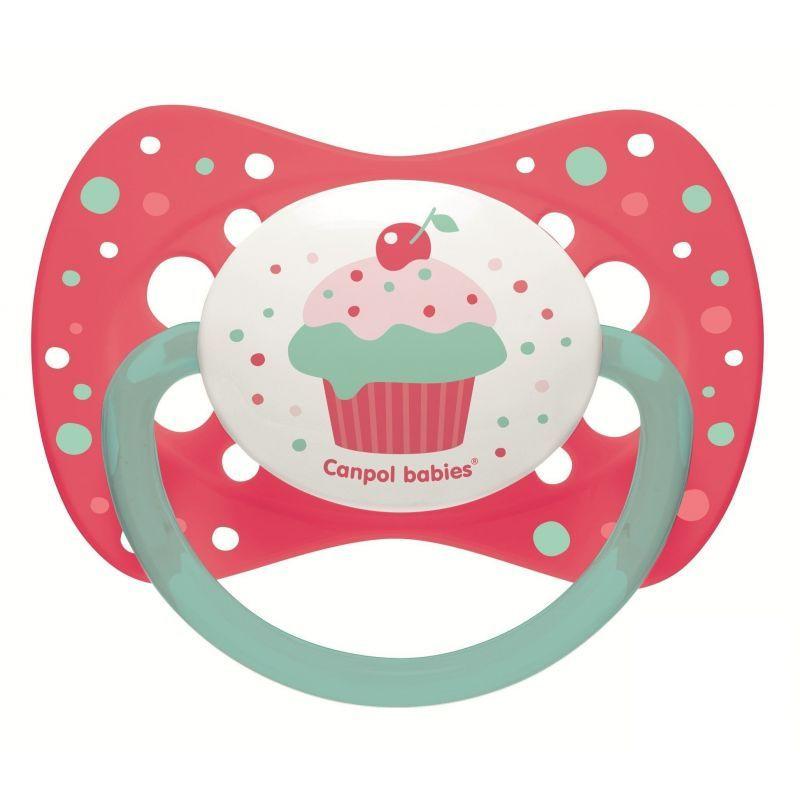Биберони тип залъгалка Cupcake 6-18м, розов  268725