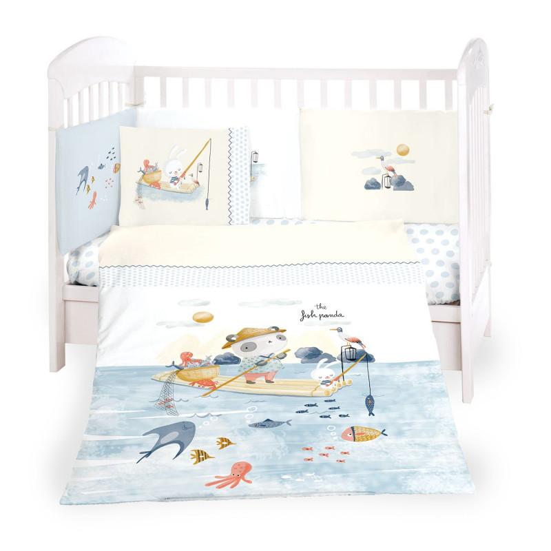 Бебешки спален комплект The Fish Panda, 6 части  269667