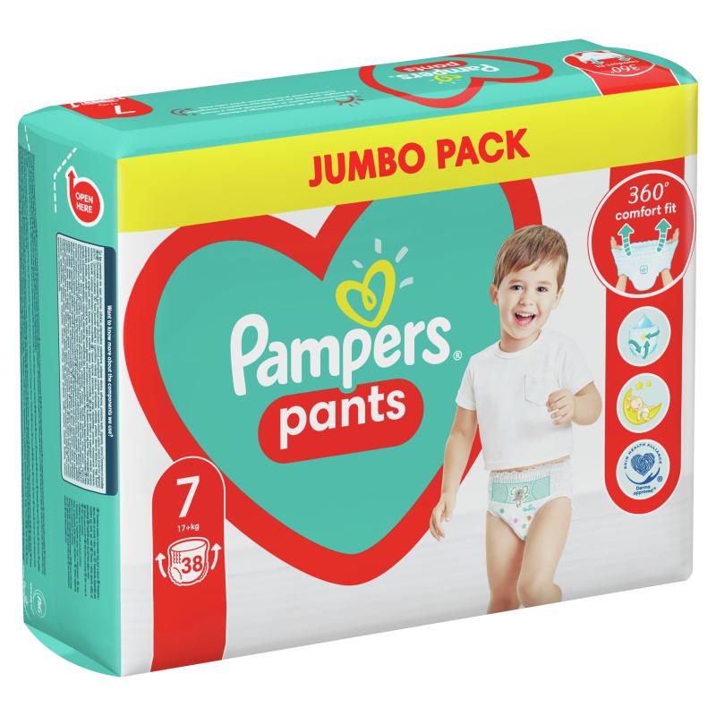 Пелени-гащички Pants Jumbo Pack, размер 7, 38 бр.  272536