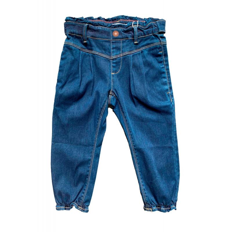 Дънки с къдрички, сини  272635