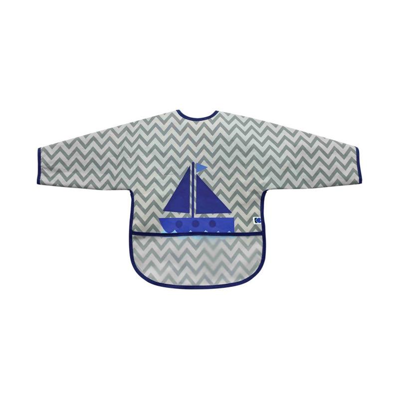 Лигавник с ръкави и джоб непромокаем Boat Grey  272753