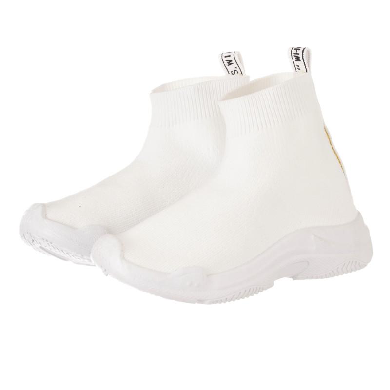 Маратонки тип чорап, бели  274387