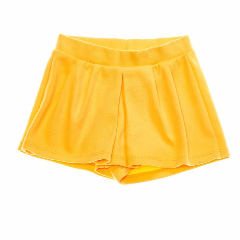 Памучна пола-панталон с плисе отпред  27968