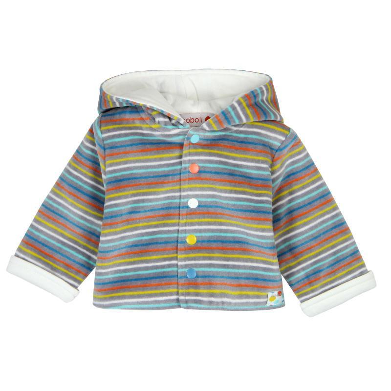 Плюшено яке с качулка за бебе унисекс  28