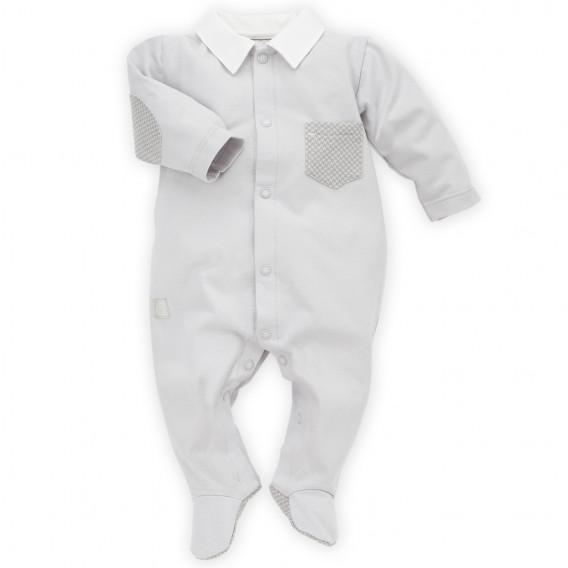 Памучен гащеризон с дълъг ръкав за бебе момче Pinokio 28240