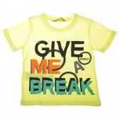Памучна тениска за бебе момче Boboli 28294