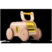 Дървена количка с четири големи колела Mamatoyz 2844