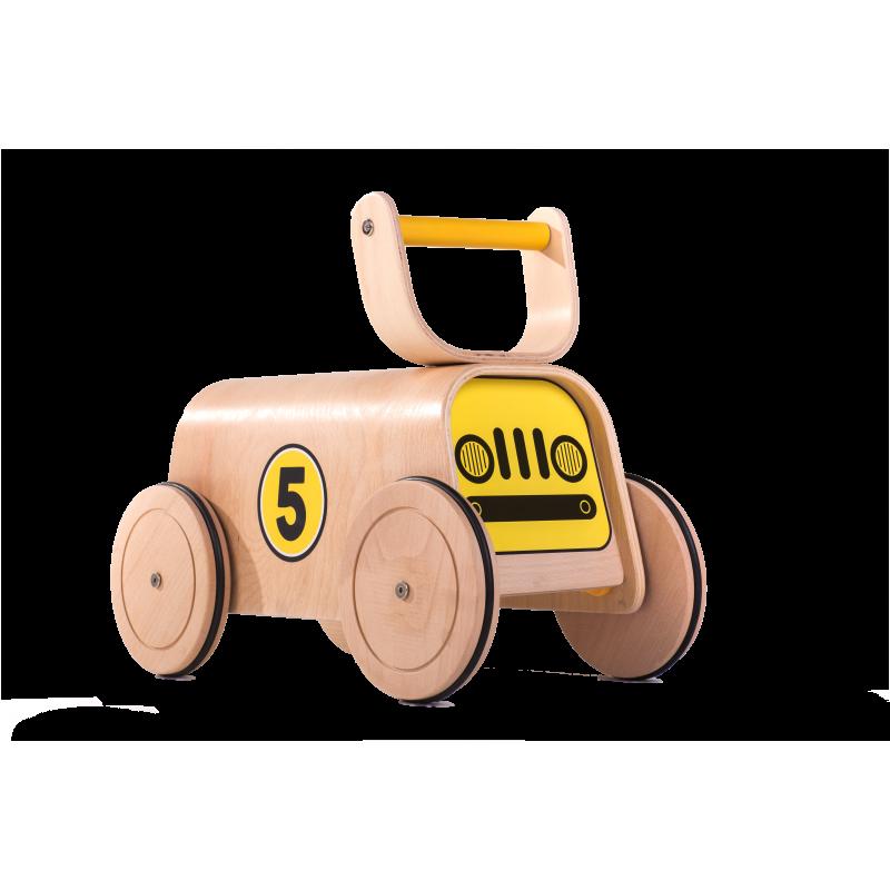 Дървена количка с четири големи колела  2844