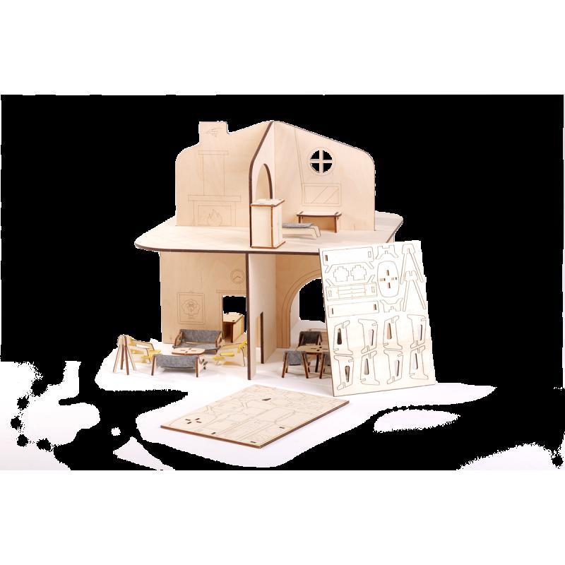 Дървена къща за кукли  2861