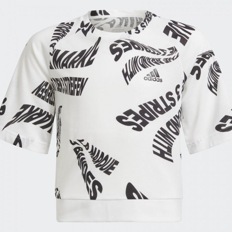 Памучна тениска Branded All Over Print, бяла  286506