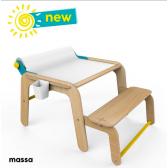 Дървена маса и мини бюро Mamatoyz 2866
