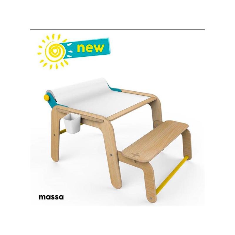 Дървена маса и мини бюро  2866