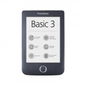 "Ebook четец pocketbook basic3 pb614-2, 6"", черен  2870"