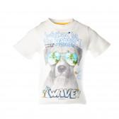 Памучна тениска за момче Boboli 28723