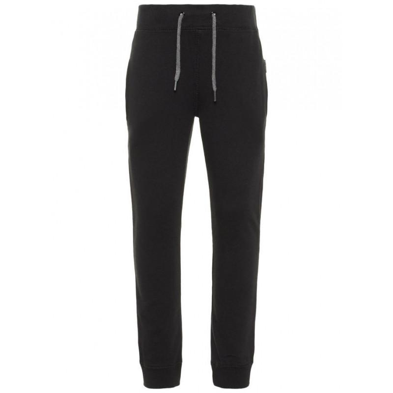 Памучен спортен панталон със сиви връзки -  унисекс  28803
