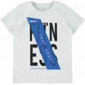 Тениска с принт от органичен памук  за момче Name it 28879