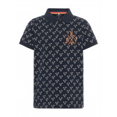 Тениска с принт от органичен памук за момче Name it 28990