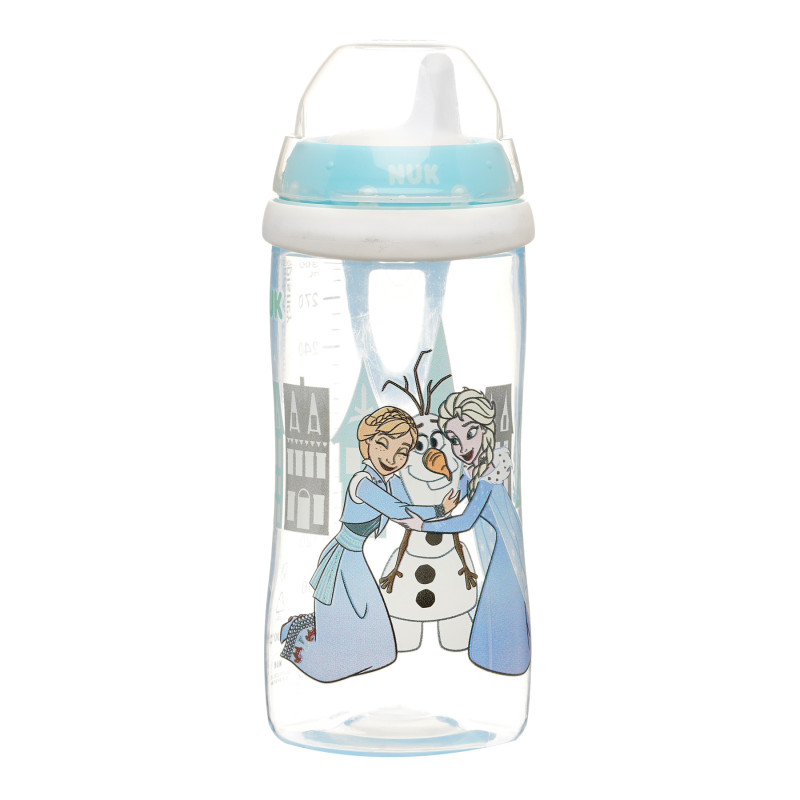 Полипропиленово шише Kiddy Cup Frozen с биберон 12+ месеца, 300 мл  291422