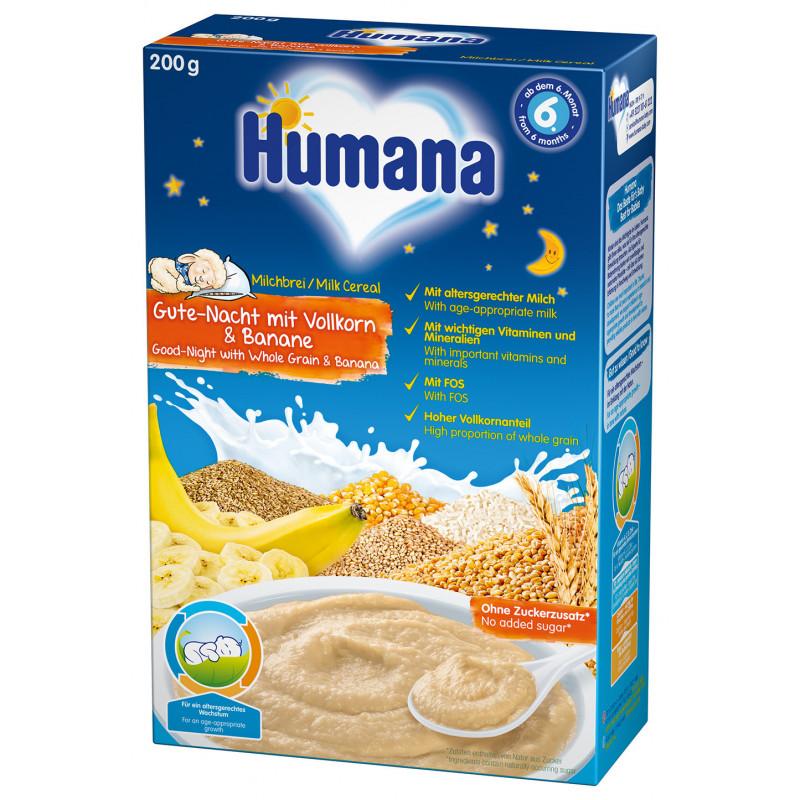 Млечна каша лека нощ-пълнозърнеста с банан , 6+ месеца, кутия 200 гр.  2961
