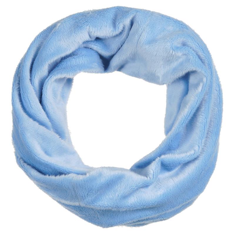 Плюшен шал за момче от мека материя в син цвят  296109