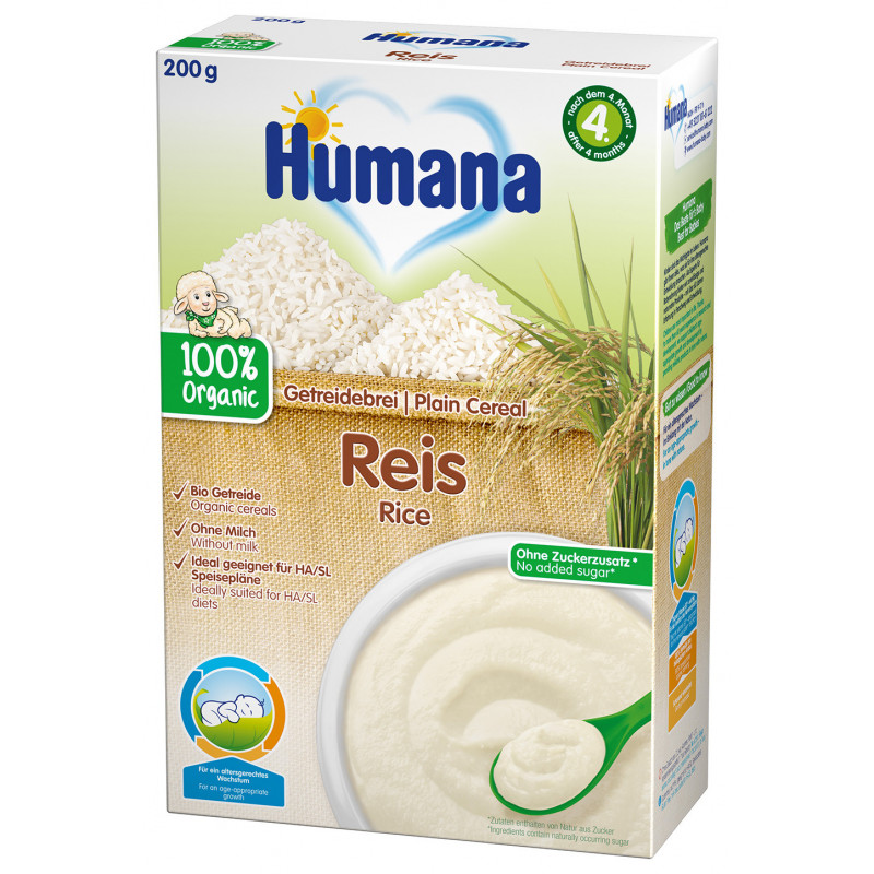Безмлечна био каша с ориз , 4+ месеца, кутия 200 гр.  2969