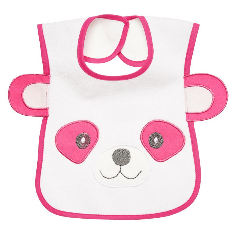 Непромокаем лигавник мече с уши в розов цвят за момиче  297008