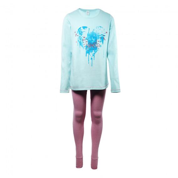 Памучна пижама за момиче SANETTA 29906