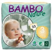 Еднократни еко пелени размер: 3, 33 бр. Bambo Nature 31148