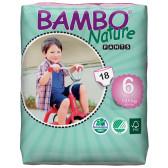 Еднократни еко пелени размер: 6, 18 бр. Bambo Nature 31153