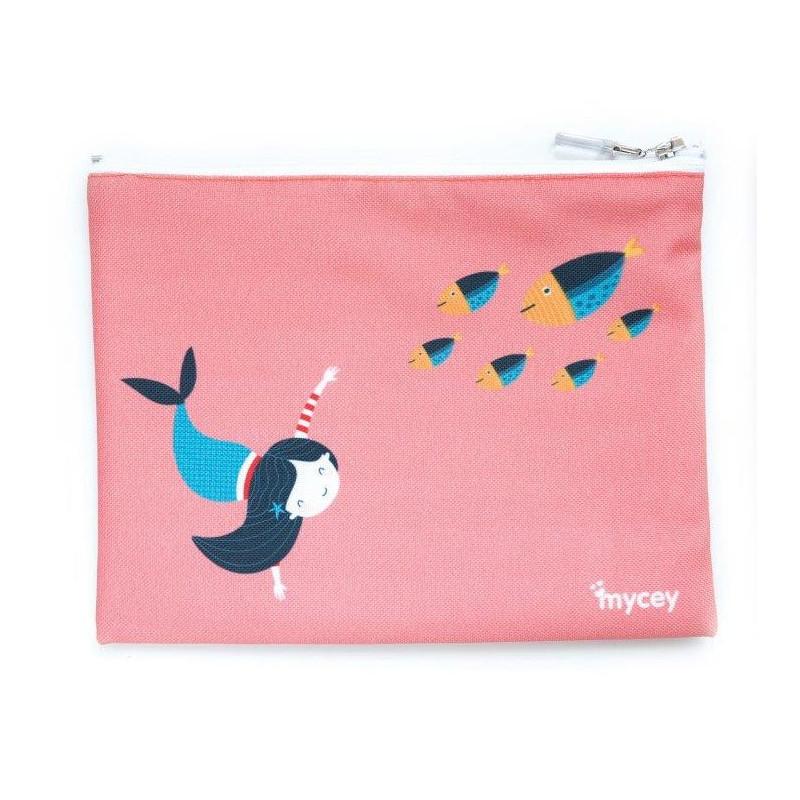 Чантичка за храна, русалка, 20 х 20 см, цвят: Розов  3125