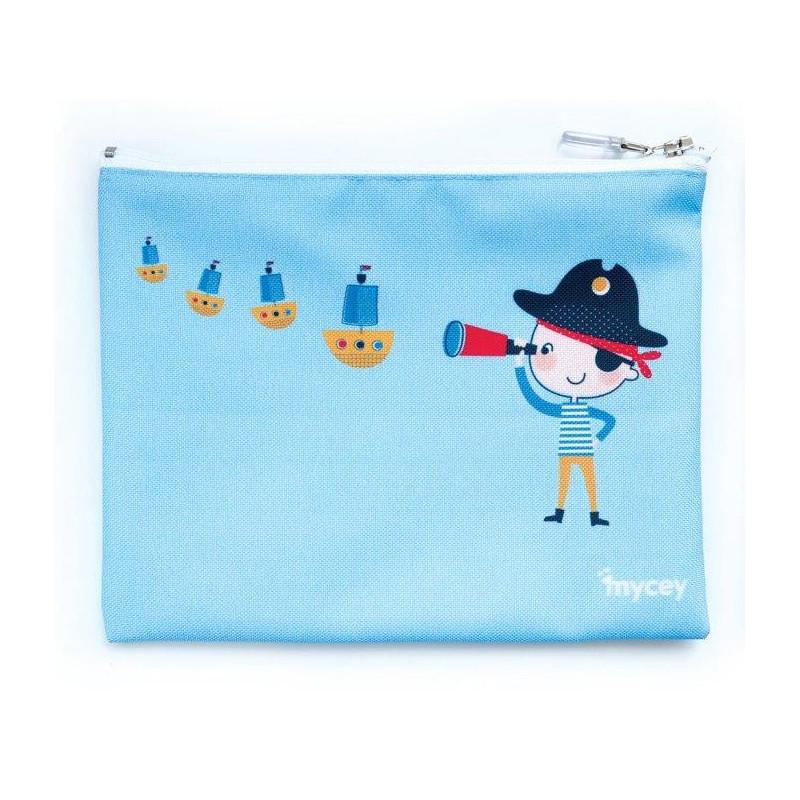 Чантичка за храна, пират, 20 х 20 см, цвят: Син  3128