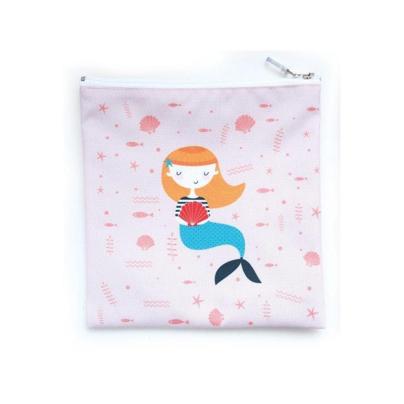 Чантичка за храна, русалка , 15 х 20 см, цвят: Многоцветен  3130