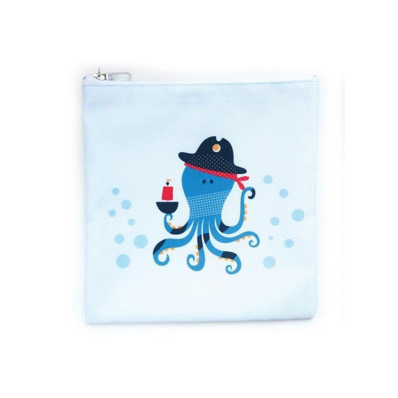 Чантичка за храна, пират октопод, 15 х 20 см, цвят: Син  3133