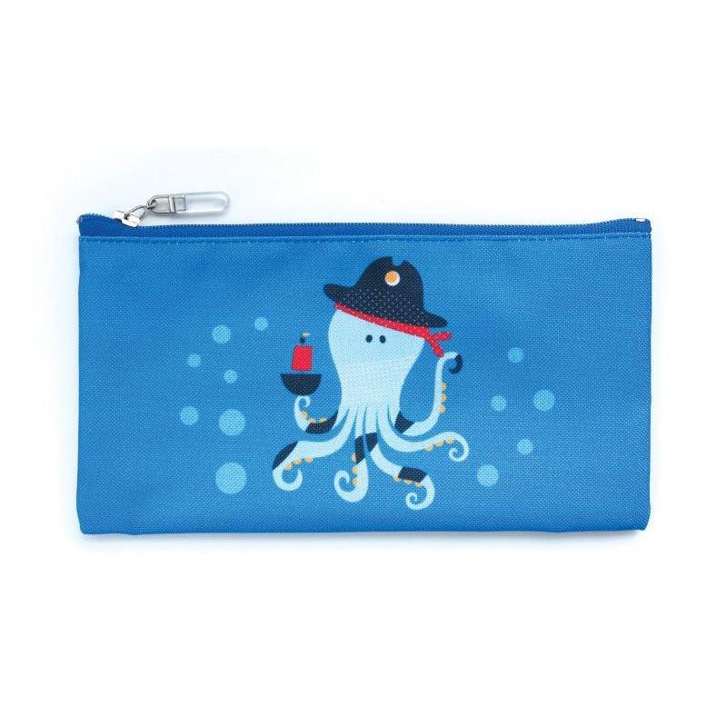 Чантичка за храна, октопод, 10 х 20 см, цвят: Син  3137