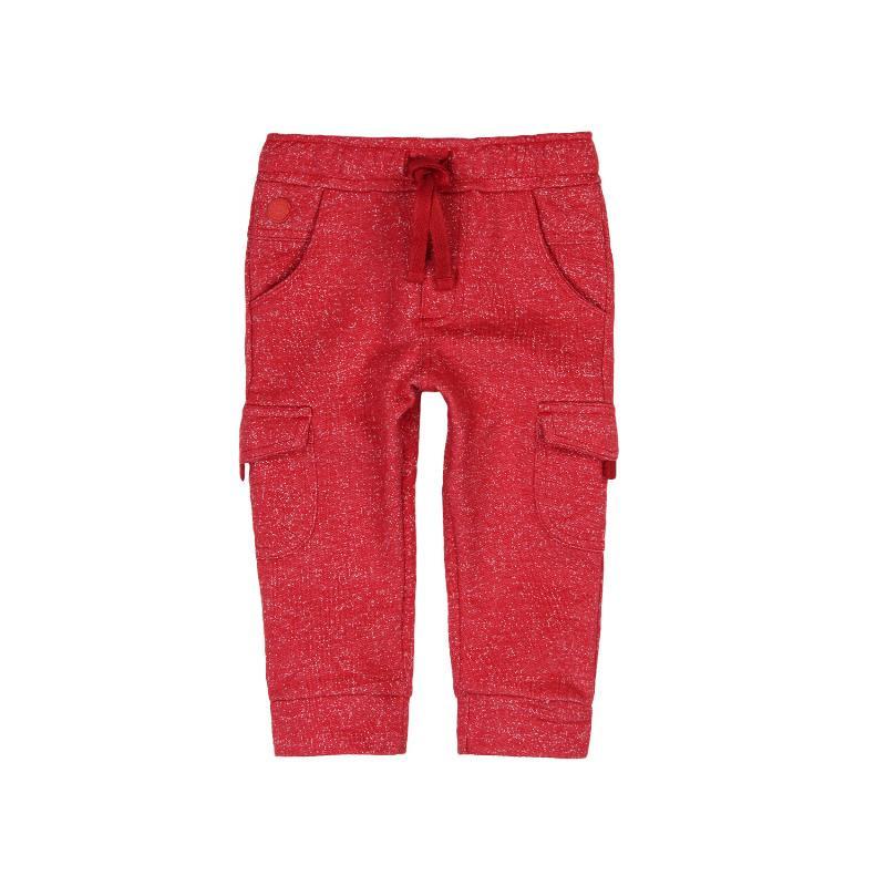 Памучен панталон с връзки за момче, червен  316