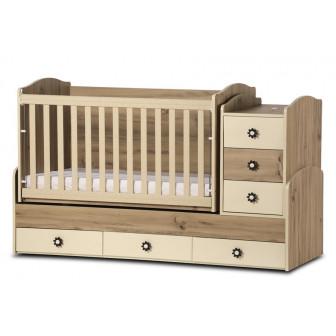 Бебешко легло деси макси с подвижна решетка Дизайн Бейби 32072