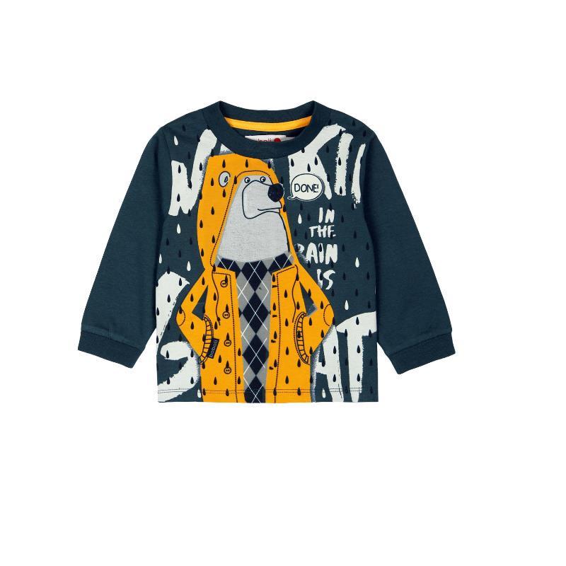 Памучна блуза с дълъг ръкав и светещи в тъмното елементи за бебе момче  324