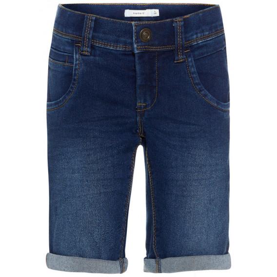 Къс дънков панталон за момче Name it 32437