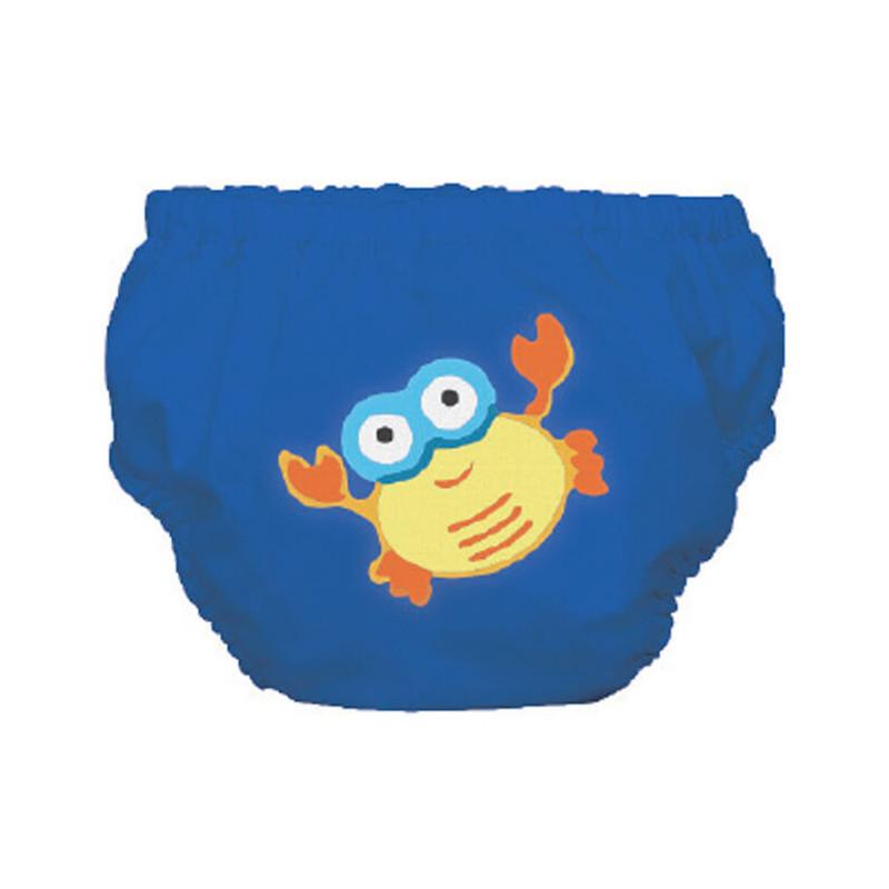 Бански за бебе момче в син цвят с раче - размер S - от 9 до 12 кг.  3249