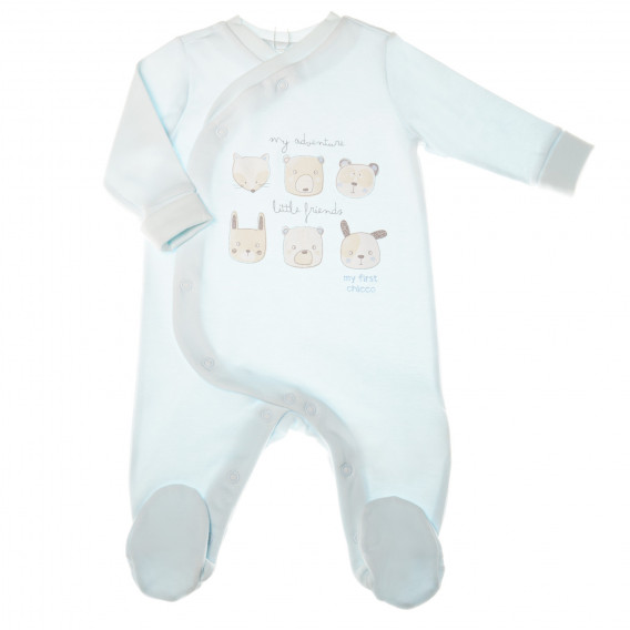 Памучен гащеризон с дълъг ръкав за бебе момче Chicco 32676
