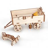 3D Механичен пъзел ремарке за трактор Ugears 3296