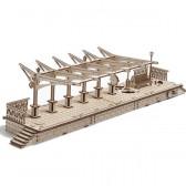 3D Механичен пъзел гара Ugears 3301