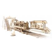 3D Механичен пъзел трамвайна линия Ugears 3307