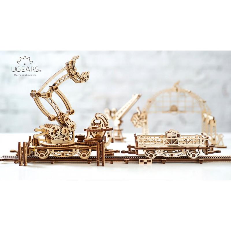 3D Механичен пъзел железопътна товарачка  3313