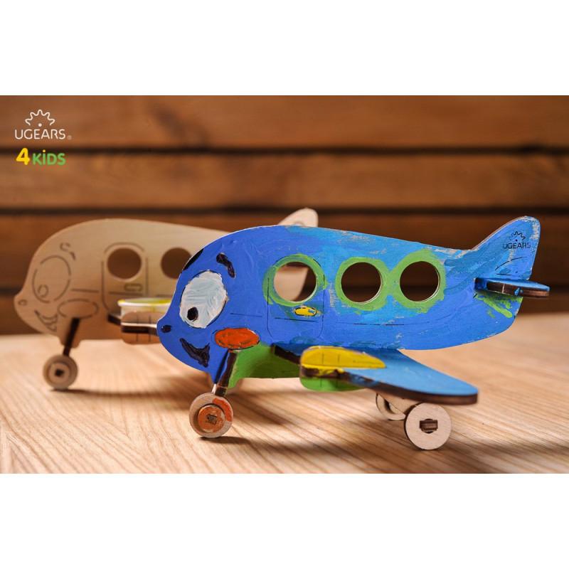 3D Механичен пъзел 4kids самолет  3343