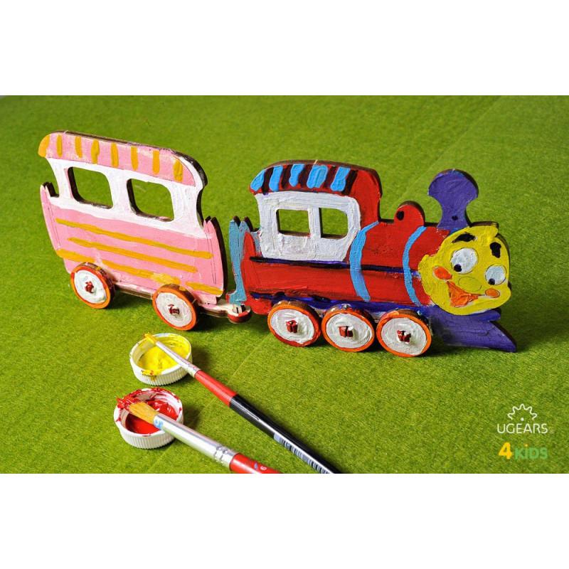 3D Механичен пъзел 4kids локомотив  3345