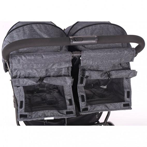 Количка за близнаци Happy 2 Grey Kikkaboo 33572 5