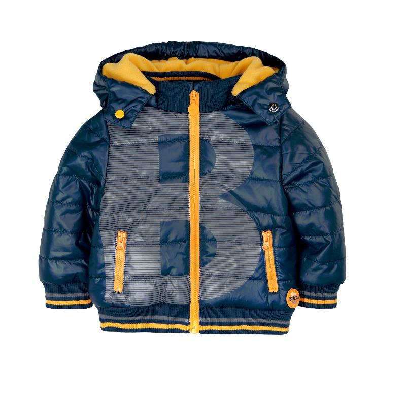 Есенно-зимните яке с качулка за бебе за момче  343