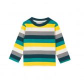 Памучна блуза с дълъг ръкав за бебе момче Boboli 347