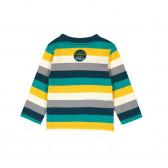 Памучна блуза с дълъг ръкав за бебе момче Boboli 348 2